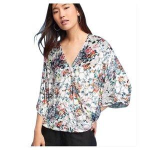 Anthropologie Maeve Uni Silk Wrap Blouse Small